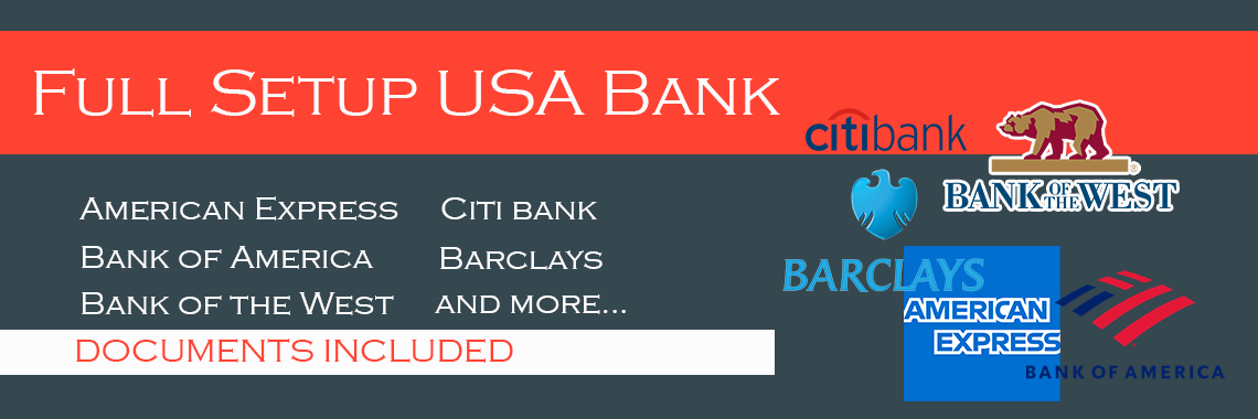 full setup USA Bank account